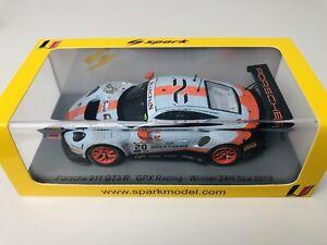 1/43 Spark Porsche 911 GT3 R GPX Racing 2019 Spa 24hrs Winner Dirty Version 1