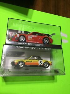 VINTAGE 2 PIECE FLY SRC SLOT CAR GROUP / PORSCHE 997 / PORSCHE 914 / NEW OLD!!!!