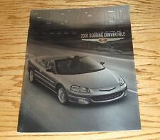 Original 2001 Chrysler Sebring Convertible Deluxe Sales Brochure 01