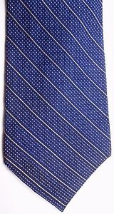 "Nautica Men's Silk Tie 58.5"" X 4"" Navy w/ gold Dots & Stripes"