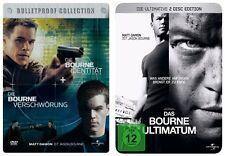 Bourne Identität + Die Bourne Verschwörung + Das Bourne Ultimatum STEELBOOK NEU