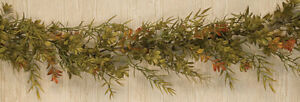 BOXWOOD DILL GARLAND Floral 6 ft.Greenary Orange Green Fall Autumn Country