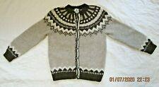 Icelandic Women's Sz M L * Handmade Pure Wool Heavy Sweater Cardigan