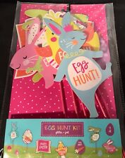 Easter Egg Hunt Kit Glitter Foil Signs 7 Card Board New Bunny Chick Egg Party