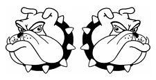 Etiqueta del vinilo de corte Adhesivos para coche portátil, etc. 2 X opuestas dibujos animados estilo Bulldogs