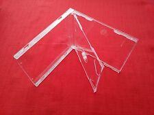 20 DOPPIO CD Maxi JEWEL CASE 10.4 mm spina dorsale standard per 2 CD con Vassoio Trasparente NUOVO