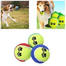 3 Random Colour Pets Cats Dog Fetch Ball Training TeethingChewing Fetching 3916