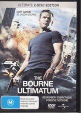 THE BOURNE ULTIMATUM - DVD R4 (2007) Matt Damon - 2-DISC SET - VG FREE POST