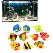 10 PCS Artificial Plastic Small Fake fish Aquarium Decoration Tank Decor Toys