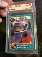 1989 SI For Kids #41 Mario Andretti PSA 8 Rookie Card Low Pop Only 3 Higher