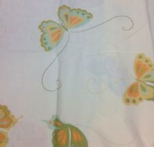 Vtg Hanae Mori Yellow Butterfly Sheet Set 2 pc Twin Size Fitted Flat Pepperell