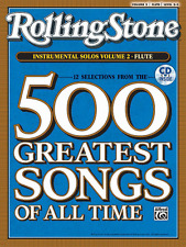 ROLLING STONE-500 GREATEST SONGS OF ALL TIME-FLUTE VOLUME 2 MUSIC BOOK/CD-NEW!!