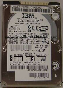 """IBM IC25N020ATDA04-0 20GB 2.5"""" IDE 44pin Drive Tested Good Our Drives Work"""