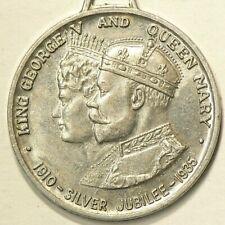 1935 Jubille Medal Aluminium King George V Fob #5836