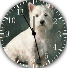 West Highland White Terrier Wall Clock Nice For Gift Home Office Wall Decor F46