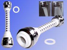 Wasserspar Düse Wasserhahn, schwenkbarer Aufsatz weiß, Wassersparer Strahlregler