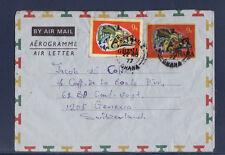 e/ Ghana  entier aérograme cameleon  1977