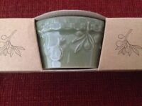 """Set of 3 Signature HOME GROWN 4-1/4"""" Ramekins GREEN - NEW IN PACKAGE Mint"""