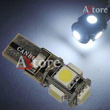 2 LED T10 5 SMD Canbus 5050 BIANCO Xenon Lampade luci Posizione 5W No Errore