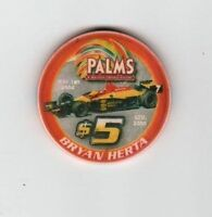 PALMS Las Vegas $5 BRYAN HERTA 2004 RACING Andrettit Green CHIP Gambling