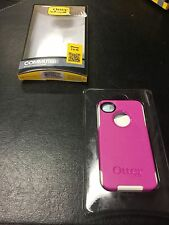 AUTHENTIC Otterbox Commuter Series Case/ Cover iPhone 4 / 4s / PINK & WHITE
