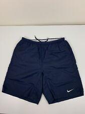 Nike Dark Blue Swim Trunks Men's Size S Small Black Tag Suit Swimwear Swoosh EUC