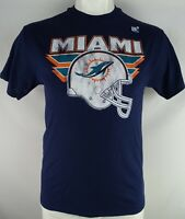 Miami Dolphins NFL Junk Food Men's Navy Blue Short Sleeve T-Shirt style Back
