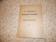 1928.Congrégation missionnaire enseignante de saint Dominique.