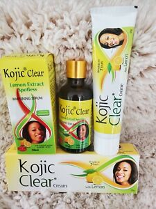 KOJIC CLEAR LEMON EXTRACT SPOTLESS WHITENING SERUM AND KOJIC CLEAR TUBE CREAM