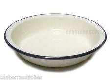 Falcon Enamel Pie Dish Round - Cream 22cm