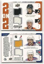 Richards Carter Drury Shanahan 08-09 UD MVP Two on Two Quad Game Used Jersey