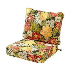 Lounge Chair Cushion Set 25 in. x 22 in. Reversible Water Rewsistant ( 2-Piece)