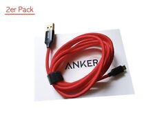 Anker 2 Stück Micro USB Kabel Nylon 1.8M Ladekabel für Samsung Huawei High Speed