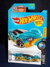 Hot Wheels NEW For 2016 X-Raycers Series #20 Blitzspeeder Clear Blue w/ OH5SPs