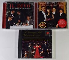 Lot of 3 Christmas CDs Carnegie Hall Concert VIENNA GALA Il Divo Collection
