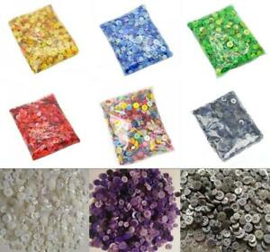 200Pcs Round Resin Buttons for Sewing DIY Painting Craft Handmade Decor 7-15 mm