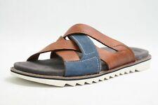 Bugatti Pantoletten braun Leder komfort Fußbett Vintage Style Herren