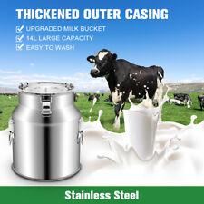 14l Upgraded Dual Heads Milking Machine Vacuum Impulse Pump Cow Goat Milker