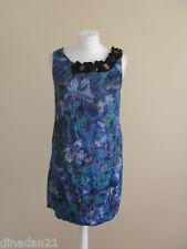River Island Vestito da donna, taglia 8, corto, blu con dettagli splendidi