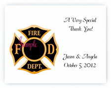 100 Custom Personalized Firefighter Fireman Wedding Bridal Thank You Cards