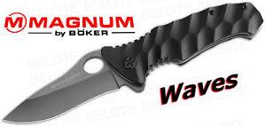 Boker Magnum Waves Aluminum Folder 01MB100 *NEW*