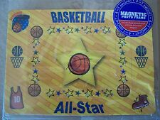 Basketball 4-In-1 Magnetic Photo Frame~3 Photo Frames & 1 Magnet, NEW IN PACKAGE