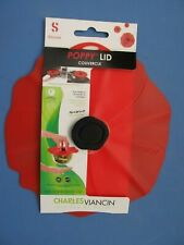 "Charles Viancin Poppy 6"" Large Universal Silicone Storage Suction Lid #2904"