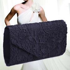 Grace Lace Envelope Clutch Bag Evening Bag Bridal Wedding Handbag Ladies
