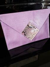 Sophisticated David Mehler for Dame Envelope Clutch Bag, Lavender/Purple