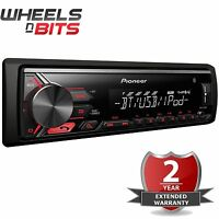 Pioneer MVH-390BT Mechaless car stereo with RDS tuner, Bluetooth, USB and Aux-in