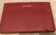 "GENUINE Michael Kors Red Saffiano Leather MacBook Air 11"" Sleeve Case Cover"