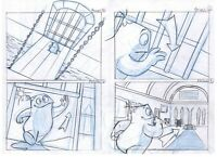 """JAM MEDIA Hand Drawn Storyboard Page Animation Test by MARCO ARANTES 16""""x11"""""""