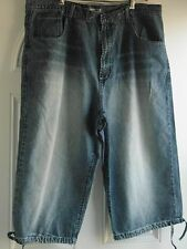 """BIG & TALL MAN'S SHORT JEANS WITH DRAW STRING HEMLINE BY """"JUST JEANS"""": 42 WAIST"""