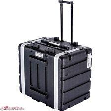 DeeJay LED 8 RU Rack ABS Hard Case with Locking Wheels